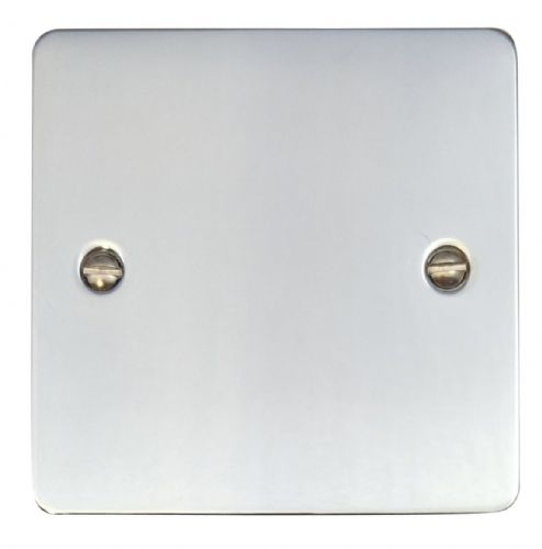 G&H FC31 Flat Plate Polished Chrome 1 Gang Single Blank Plate